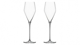 Vorteilssets von EKM Living: Zalto 2er Set Champagnerglas, Sektglas, mundgeblasen, 11552, Glasmanufaktur Denk´Art + Gratis 4er Set EKM Living Edelstahl Trinkhalme - 1