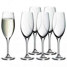 WMF Easy Plus Champagner-/ Sektgläser-Set 6-teilig, 250ml, Kristallglas, spülmaschinenfest, transparent - 1