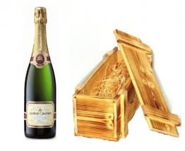 Alfred Gratien Champagner Brut Classique in Holzkiste geflammt 12% 0,75l Fl. - 1